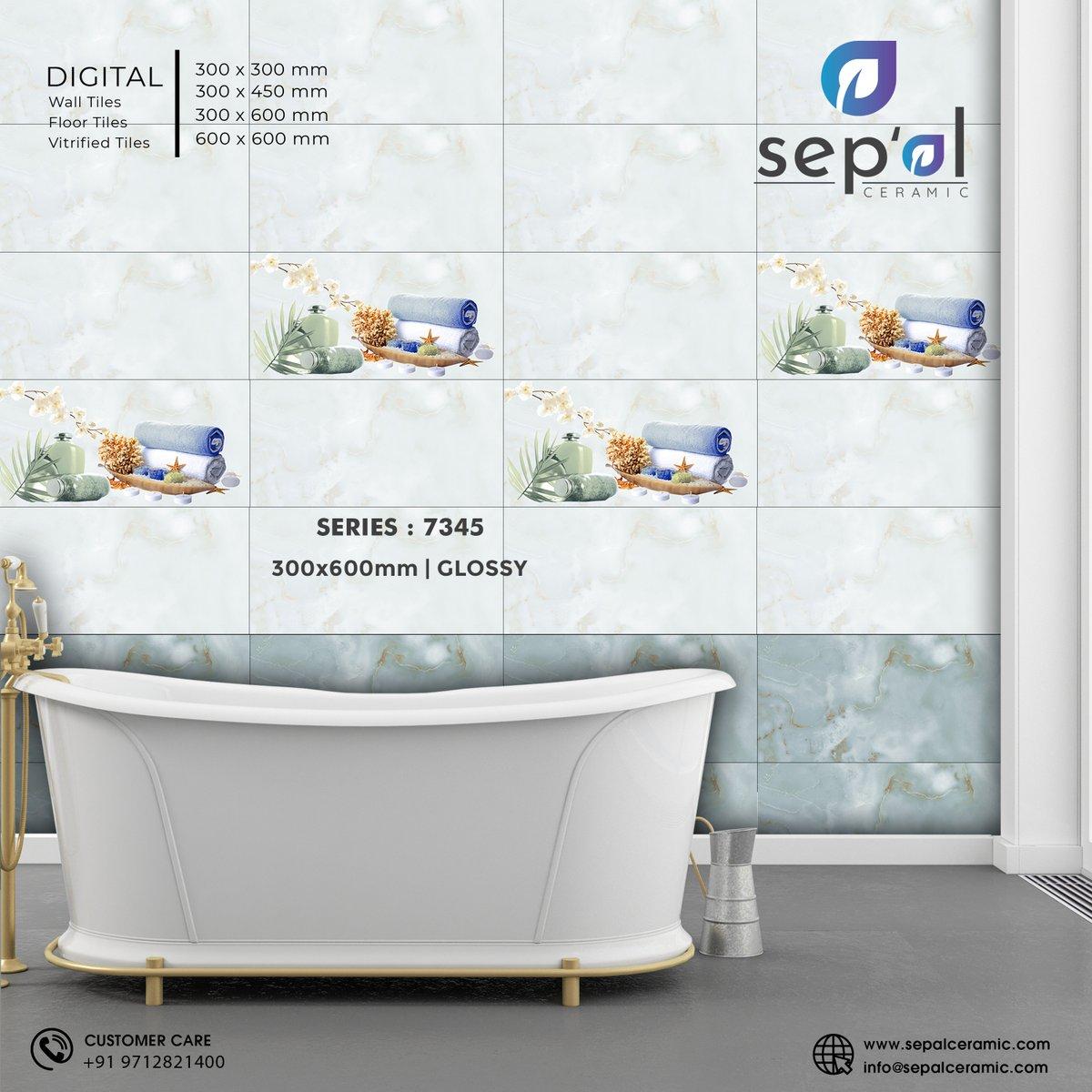 Series no 7345   300x600mm   Glossy #sepal #Sepalceramic #vitrified #manufacturing #tiles #ceramics #matt #glossy #Exporter #walldecor #Digitalwalltiles #TilesOfIndia #manufacturer #InteriorDecor #digitaltiles #sepalDesigns #Moderation #morbipic.twitter.com/mEr9lEze5V