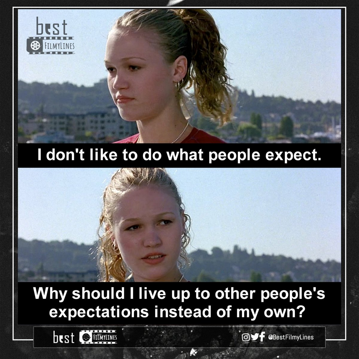- 10 Things I Hate About You (1999) Director: Gil Junger  #hollywood #hollywoodmovie #hollywoodmovies #english #cinema #movie #film #dialogue #dialogues #quote #quotes #webseries #tvseries #rvcjinsta #bestfilmylines #10thingsihateaboutyou #heathledger #inspiringquotes #motivationpic.twitter.com/XToa08H9PH