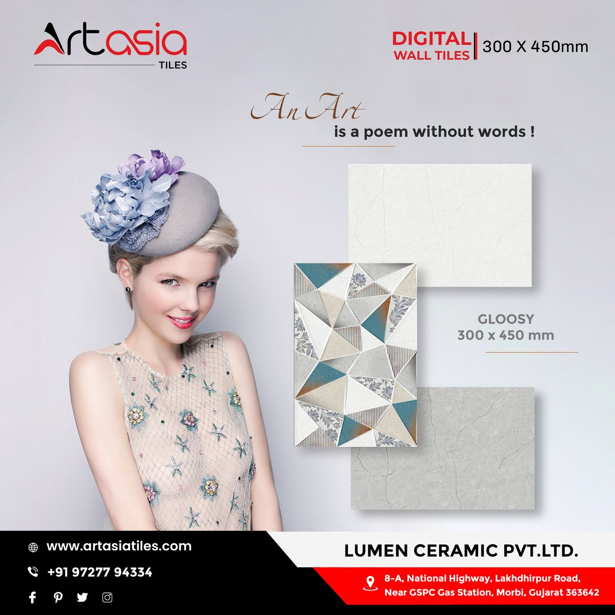 """""""An Art is a poem without words !"""" 300x450mm   Glossy   Digital Wall Tiles #artasiatiles #300x450mm #livedesign #Artasia #digitalwalltiles #tiles #ceramictiles #ceramic #interiourdesign #interiourhome #morbitiles #exports #tileexport #bestqualityproducts  #morbi #gujarat #indiapic.twitter.com/sv6f09ieb2"""
