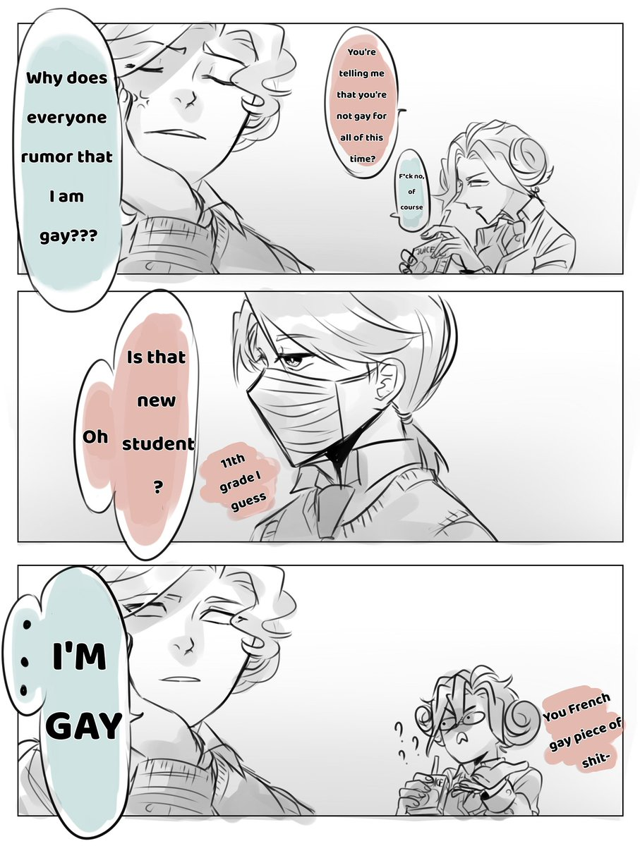 Lol this is from my friend's AU, I just draw one scene from it since it's fun to draw =))) Sorry i'm not so good at English  #JosCarl #写納 #Marie pic.twitter.com/3tmX2MJPFt