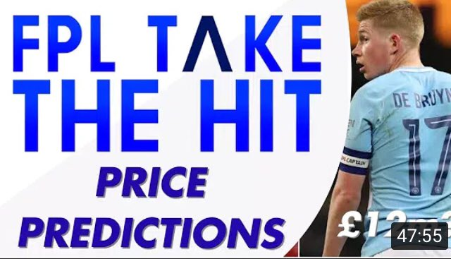 #FPL Price Predictions & thoughts  Live on youtube Link: https://t.co/2uwhQ5prgQ  RTs & ❤️s you sexy guys & gals  #EPL https://t.co/hlVAcJNAOV