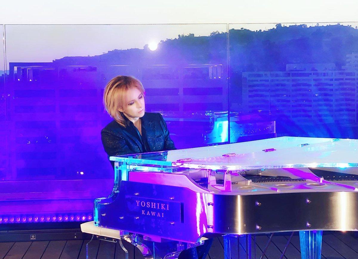 Tonight I'll be performing on TV from LA! 今夜 #NHK 音楽特番 「#ライブエール 」に #LA から #YOSHIKI (#XJAPAN) 出演決定!午後7時30分〜10時10分第70回NHK #紅白歌合戦 以来初となるテレビ番組での演奏Pics from rehearsalリハの風景!