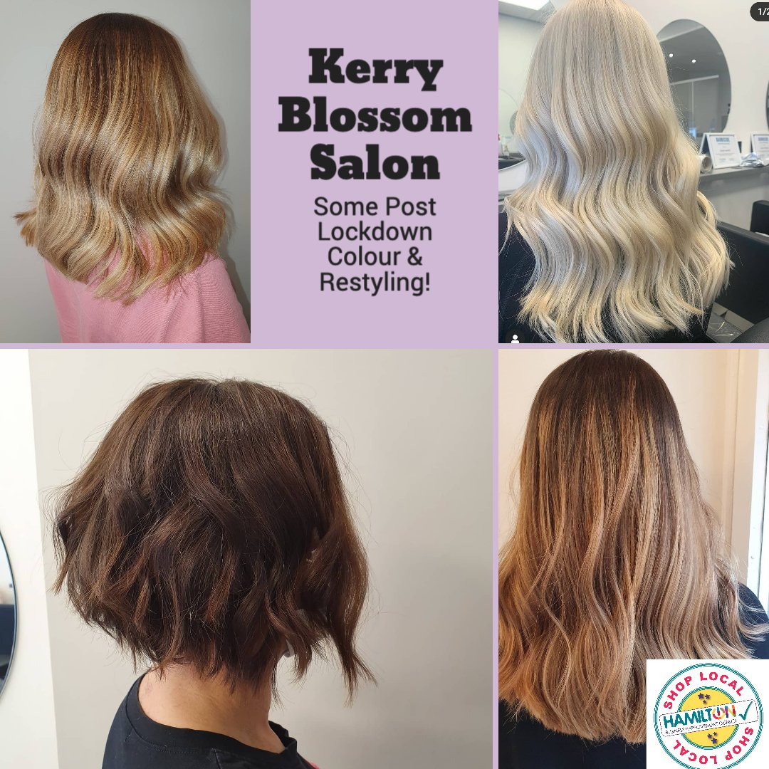 Just a few photos from Kerry Blossom Hair Salon on Cadzow Street who has been busy sorting out lockdown hair with some restyling and colours.  To book an appointment call 07706 364304.  #hairsalonhamilton #shophamilton #hamiltonloveslocalpic.twitter.com/jznXCqRHm4