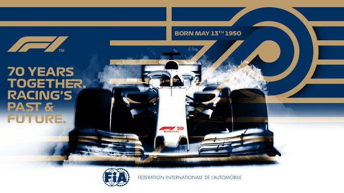 #F1 - @F1 is celebrating this week-end in Silverstone its platinium Anniversary after 70 years in the @fia World Championship  #F170 🇬🇧 https://t.co/Fvbsvejm8P