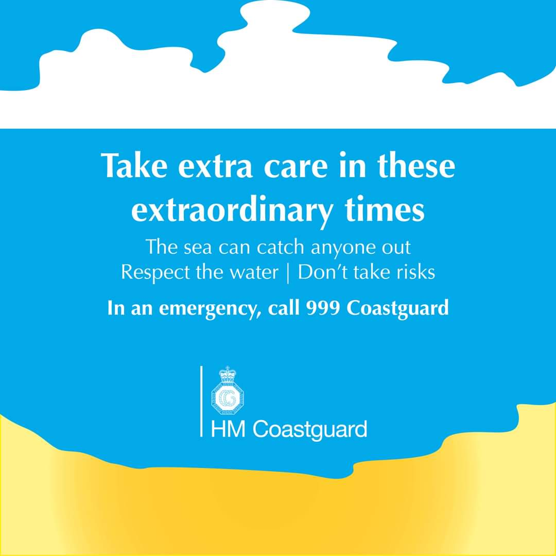 Now more than ever, please respect the sea and the coast. Whether you're local or not, the sea can still catch you out    If you get into trouble call 999 and ask for the COASTGUARD. we will come to your aid. Coronavirus hasn't gone away and we all need to follow the rulespic.twitter.com/pP4hc6GUtV