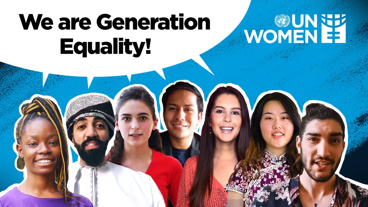 Youth are powerful, determined, ambitious, passionate, inclusive and conscious. Let their voices and demands be heard!  This is what #GenerationEquality looks like.