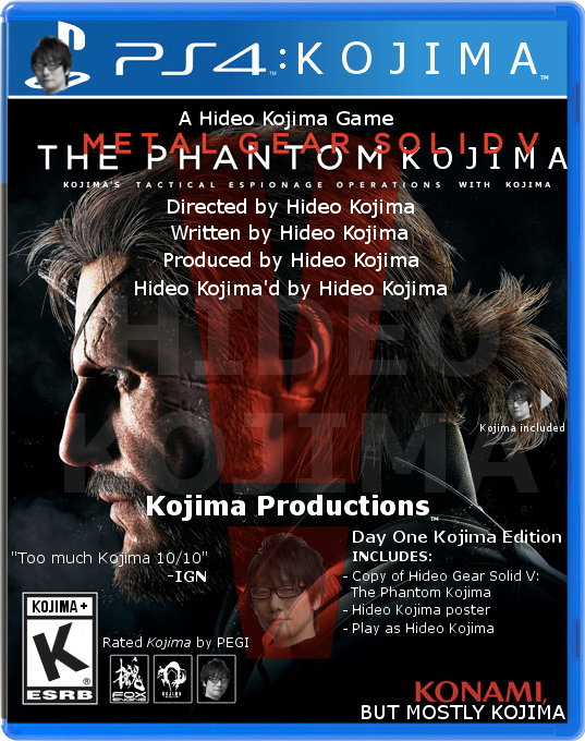 I was clearing out some files and found this absolute masterpiece: the time I put Kojima's name back on the MGSV box art. pic.twitter.com/kLwaekOARF