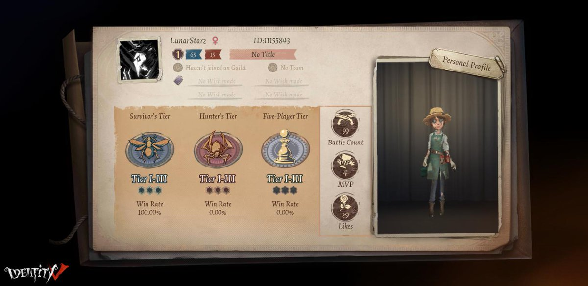 I'm playing Identity V. Fancy a game? pic.twitter.com/aZwRwe0fME