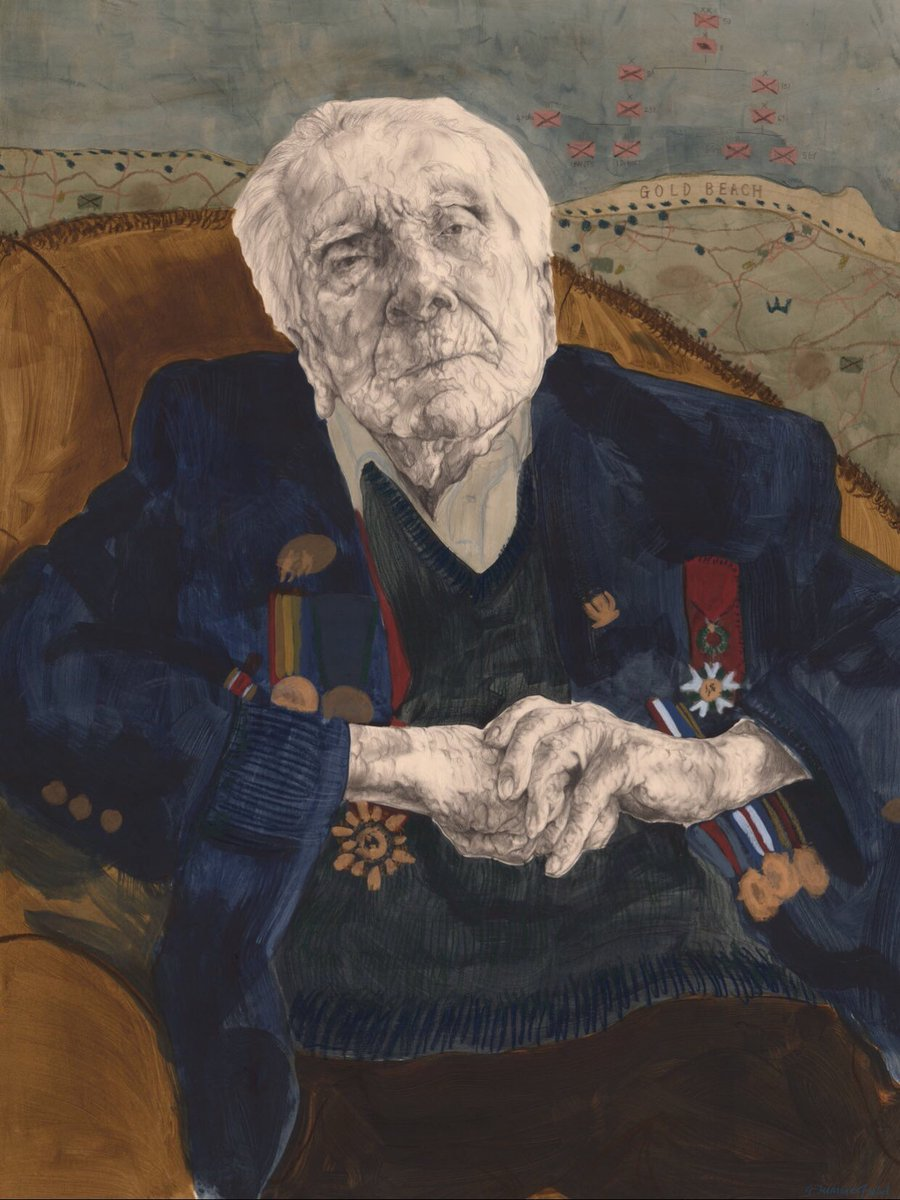 D-Day veteran Harry Billinge MBE. What an extraordinary man. It was a true honour to meet and paint him. #normamdy #DDay76 #dday2020 #GoldBeach #harrybillinge https://t.co/kfD3r2gQQz