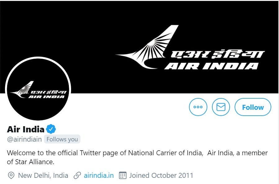 #KozhikodeAirCrash   Following Friday's tragedy, @airindiain changes its social media display pictures to black colour as it also mourns the death of two of its pilots https://t.co/D0X8JRX3Ua