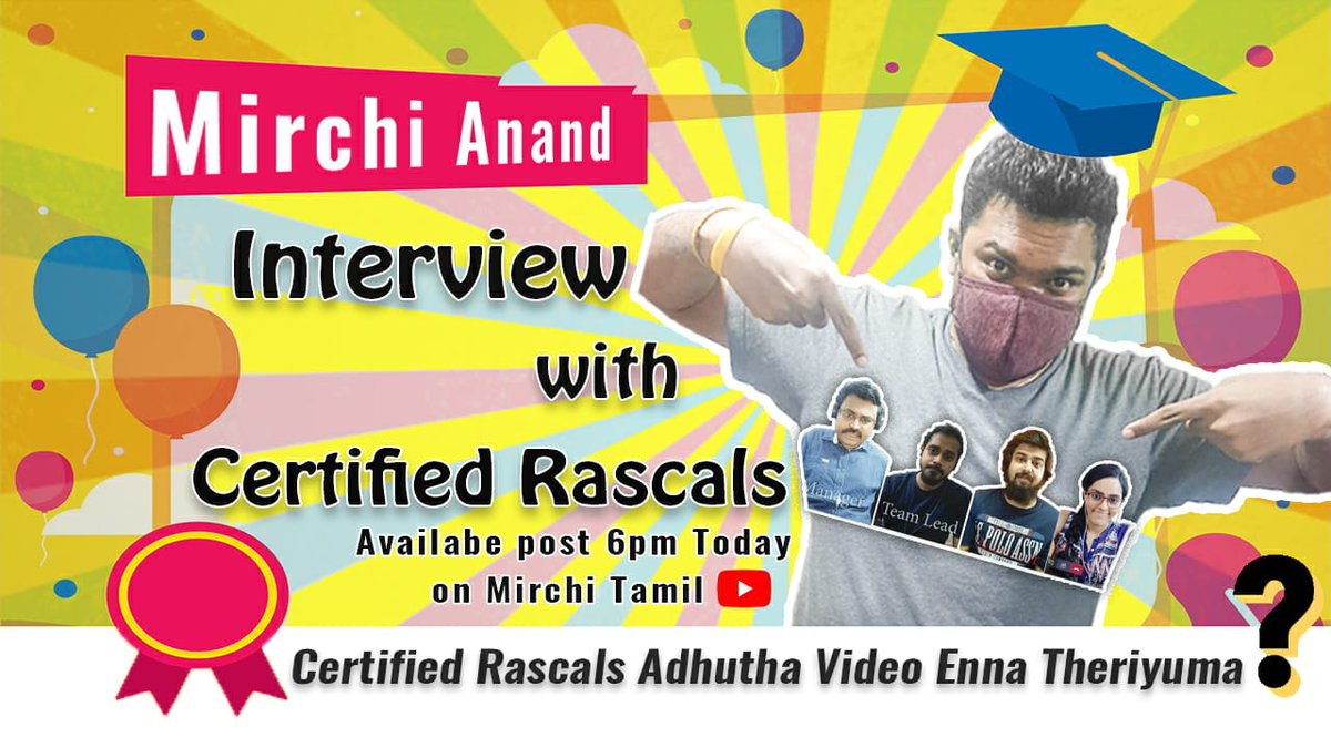 #certifiedrascals on #Radiomirchi with #mirchianand today even 6 pm ISTpic.twitter.com/7TLRXRVkRl