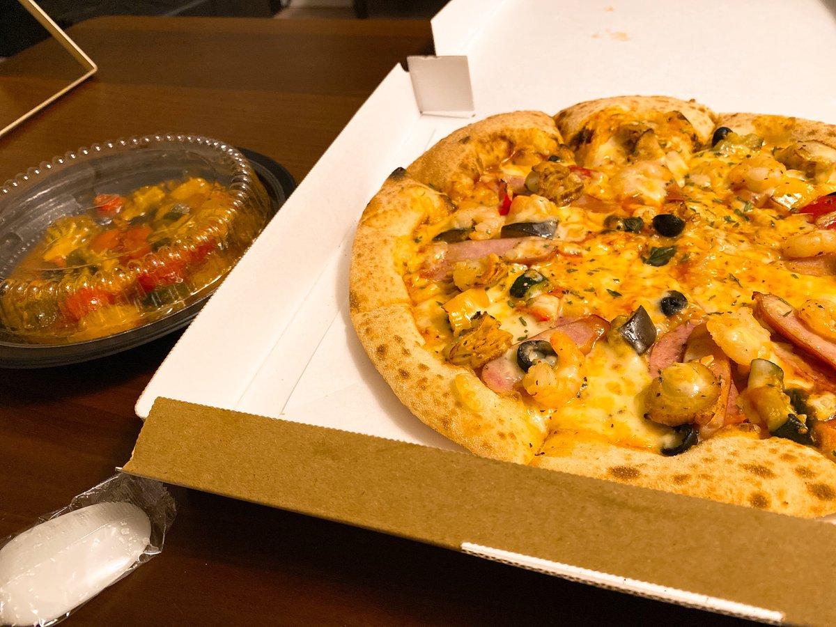 昨日の夜はピザ食べてやったべ!何気にピザ久しぶりだった気がするわ!やっぱうめえのな!#ナポリの窯