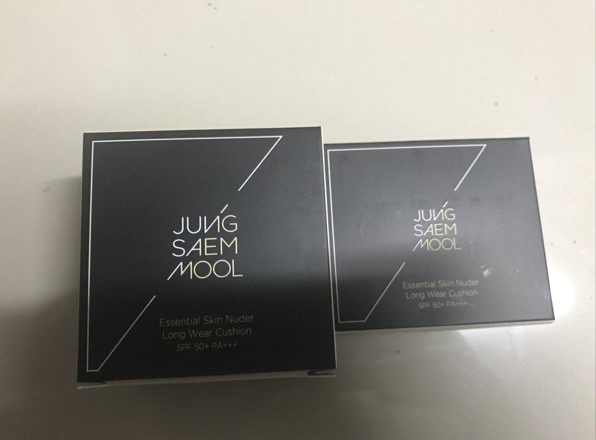 พร้อมส่ง Jung Saem Mool Cushion SPF50+ PA+++ สูตร skin under long wear เนื้อแมท สำหรับผิวแห้ง สี Medium ตลับจริง+รีฟิล 750 รีฟิล only 300 รอบนี้มีอย่างละ1ค่ะ #jungsaemmool #คุชชั่น #เครื่องสําอางเกาหลี #เครื่องสําอาง #คสอเกาหลี #พรีออเดอร์เกาหลี #จองแซมมุล pic.twitter.com/gFxcwLgkLk