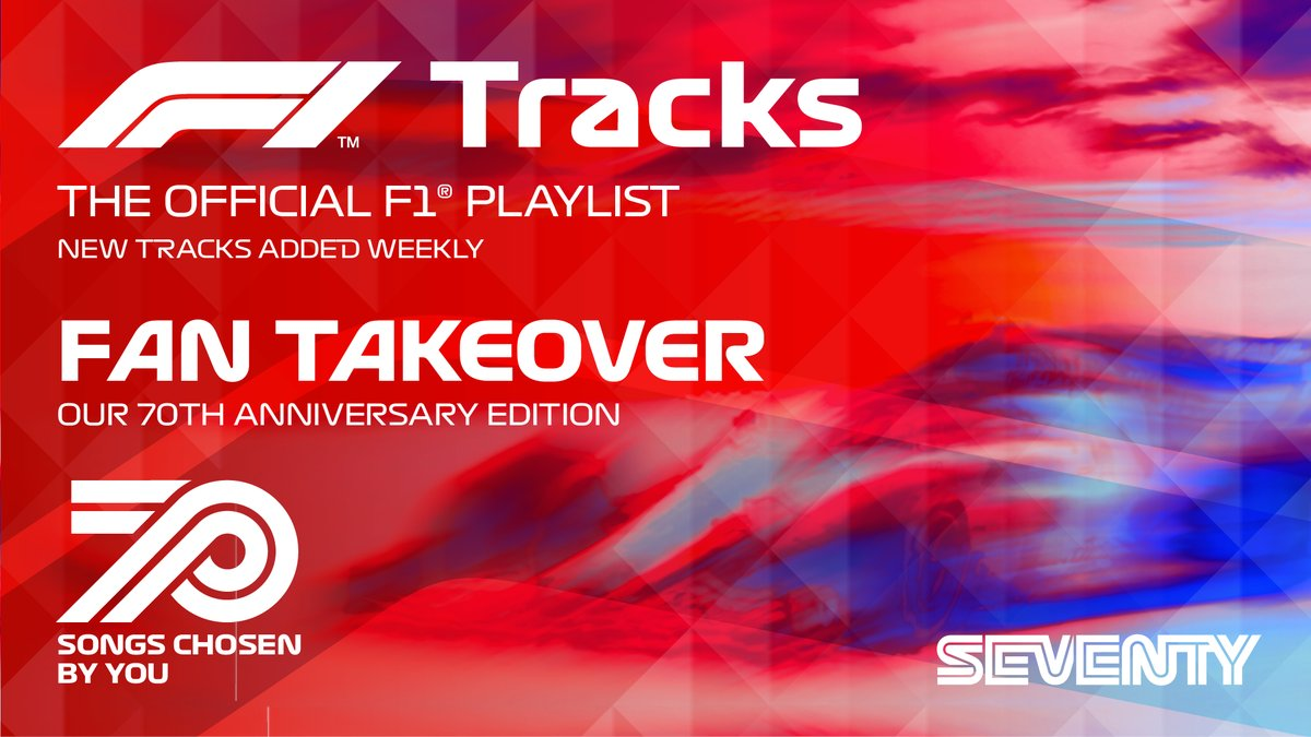 The Official 70th Anniversary #F1Tracks Playlist curated by YOU is now live on @Spotify 🎶  Featuring: @acdc, @coldplay, @Sia, @GreenDay, @NathanDawe, @samfendermusic and more  Tune in >> https://t.co/sdydmW3Wh1  #F170 🇬🇧 #F1 https://t.co/QX51dGcArD
