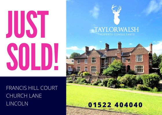 ANOTHER NEW LISTING SOLD stc  Francis Hill Court Church Lane Lincoln  Listed: 2 weeks ago  Viewings: 9 Offers: 4  Thinking of selling? We'd love to help.  ☎️ Call 01522 404040  #Sold #Results #EstateAgent #Uphill #View #lincoln #TaylorWalshPropertyConsultants @taylorwalsh_lincoln https://t.co/G367GfMgln
