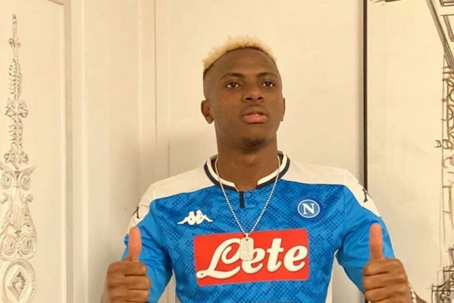 Nigeria's Super Eagles striker, Victor Osimhen has vowed to win trophies with his new club, Napoli in his maiden season with the Italian club. The  #DiegoMaradona #EdinsonCavani #GonzaloHiguain #LanreOlabisi #VictorOsimhen https://pmparrotng.com/2020/08/08/osimhen-reveals-plans-to-help-napoli-win-trophies/ …pic.twitter.com/8oBnjyRyJF