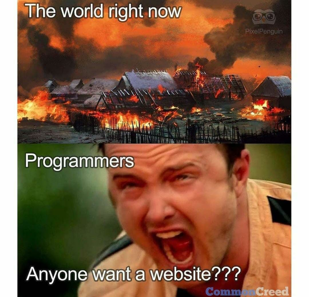 Every freelancers right now  #100DaysOfCode #programming #website #javascript #freelancerpic.twitter.com/ouoU1mSegt
