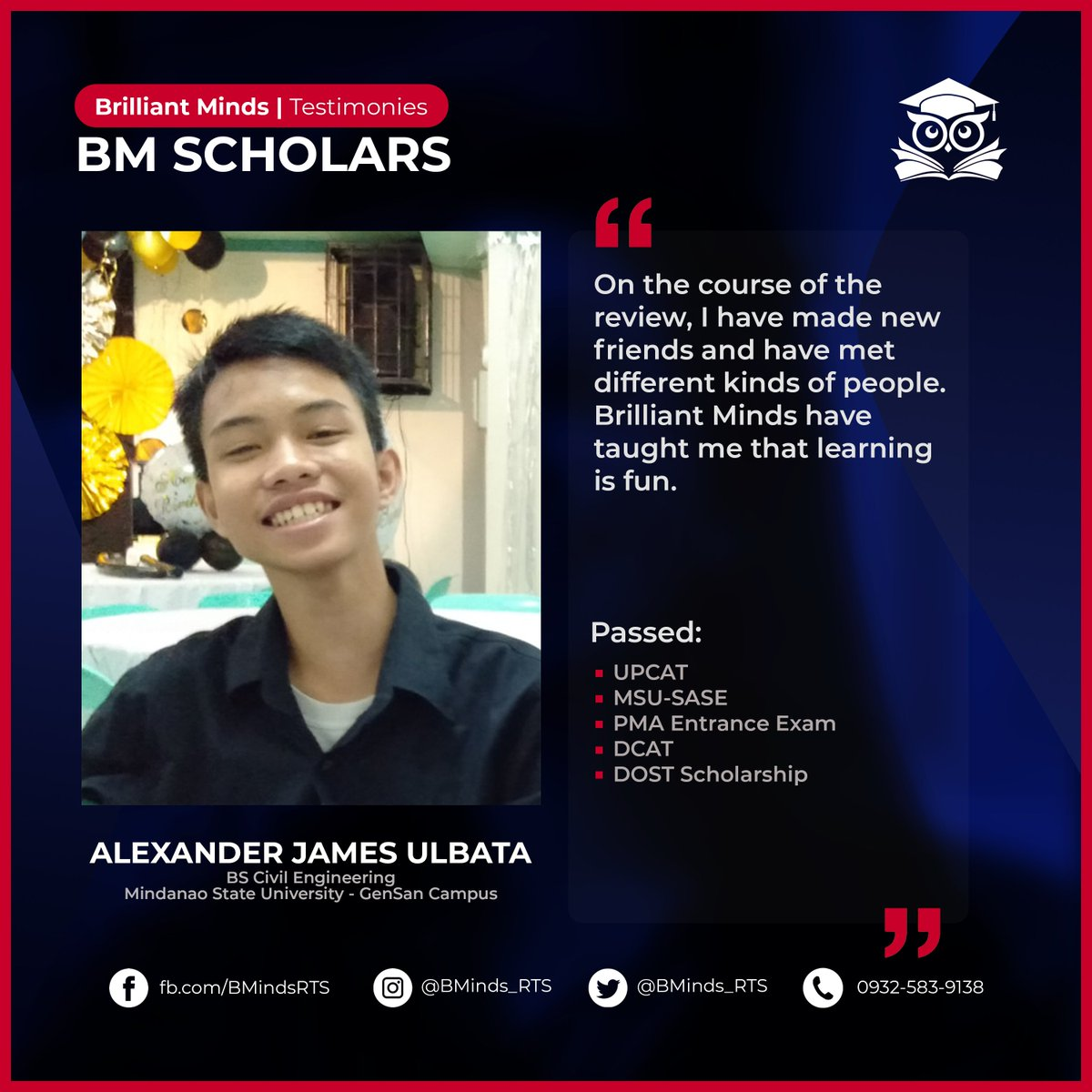 Meet Alexander, a former BM Scholar! Read his Brilliant Minds experience through this link: https://t.co/nDBwtr5fcc  [1/2] https://t.co/bfRpsapVo9