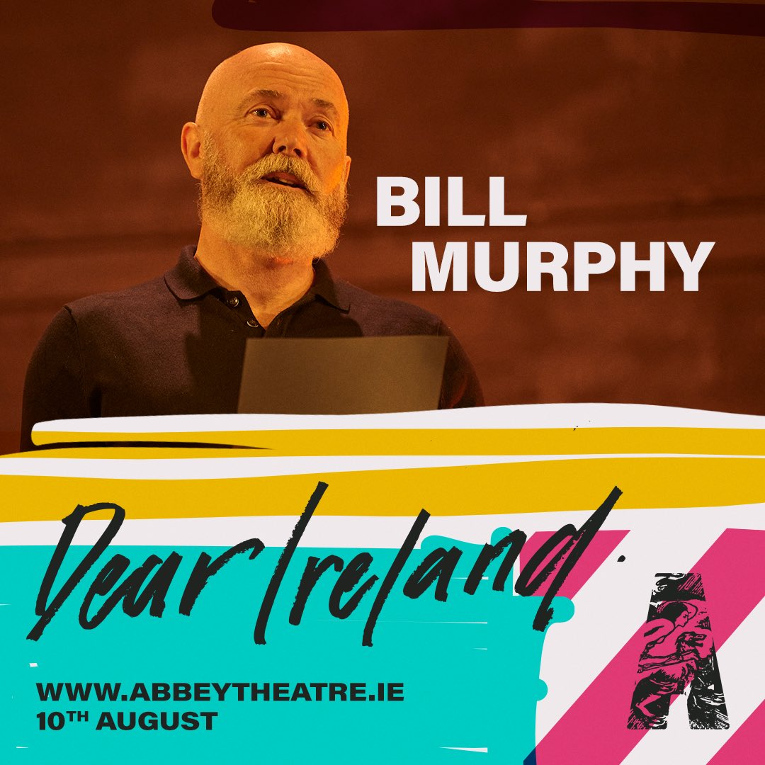 Love being part of this @AbbeyTheatre ensemble. Hope you can all tune in. Turn the world into a theatre auditorium for a couple of hours . This Monday 10th august 7.30pm Irish time. Follow the link. I'll see you there  https://t.co/fUYrejia4B  #dearireland https://t.co/XipnlENQo2