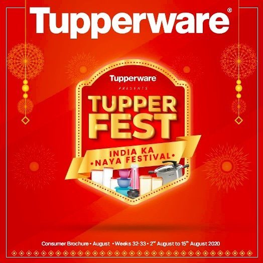 Tupperware India presents India Ka Naya Festival - TupperFEST, a gala shopping carnival with discounts upto 50%   Click here to see the August, TupperFEST brochure - https://t.co/N94j4t5Wdt https://t.co/wTCSFq50gZ