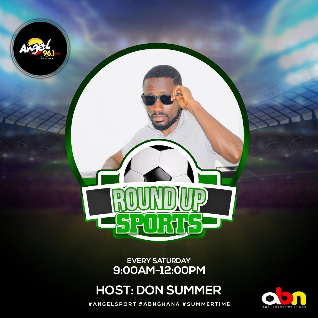 Round Up Sports on @Angel961Fm  ⚽️🎾🥎🏓🏒🏑⛳️  Weekend Edition:9:00-12:00pm @donsummerone  @Dela_fishbone  @MawukoDoe  @CRUCIALQUALITY1  @jeffreyamoah   Drop your comments using the hashtags #abnghana #OneHD #angelsports https://t.co/dkxExyiwbZ