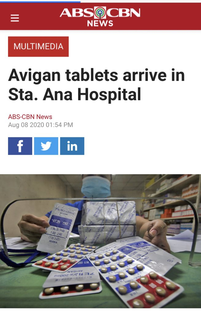We started with Hydroxychloroquine.  Then came Oseltamivir. (Hopefully, Remdesivir soon)  And now...  Excited for this.  #Favipiravir  #Avigan https://t.co/ZxbUXquQu3