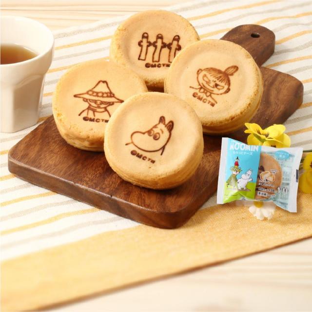 【まろやか】「ムーミン もちっとチーズ」ファミマ限定で登場8月9日の「ムーミンの日」を記念し発売。焼き印の絵柄はムーミン、スナフキン、リトルミイ、ニョロニョロの4種類となっている。
