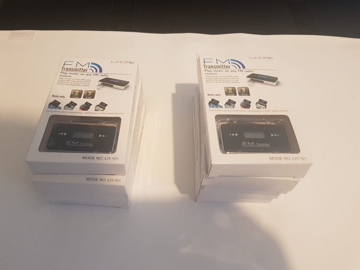 #Clearancesale!  FM transmitters! 3.5mm jack to fit to your #phone.  Only £4.99 each!  All items are brand new boxed!  Lots more great #deals on our ebay store!  https://www.ebay.co.uk/itm/283950133728…pic.twitter.com/YReAJAccVn