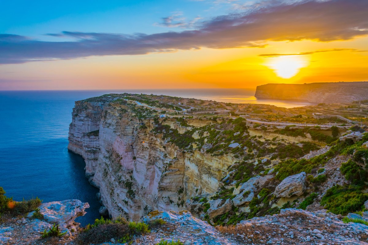 It's quiet up there! An awesome trail leads you to this magnificent cliffside.  #Gozo #VisitGozo #cliffs #cliffsideGozo #nature #photography #sunset #traveling #travelGozopic.twitter.com/0bfpgeRGRx