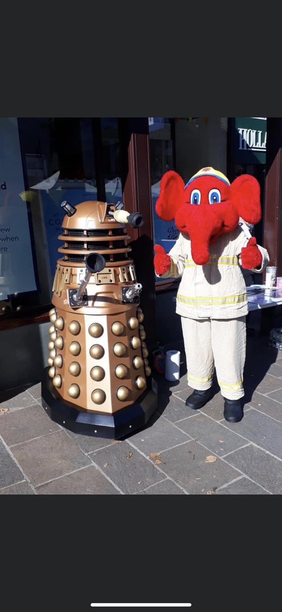Come on down to Keswick market square and meet these two. #firefighterscharity @CumbriaFire