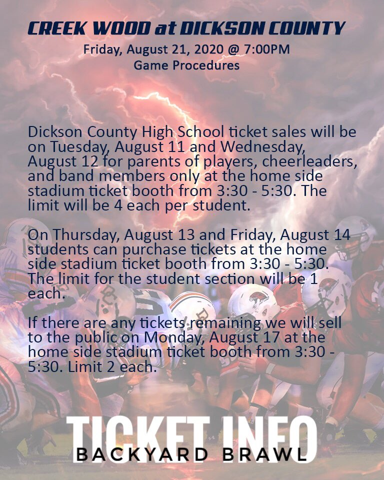 Backyard Brawl TICKET INFORMATION pic.twitter.com/TOxoMf6SQT