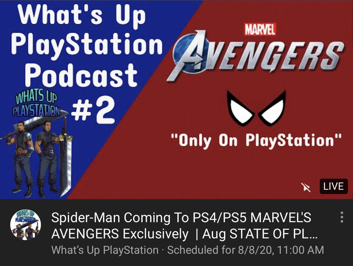 In about an hour, we will be live with WUPS Podcast Ep.2. Hosted by: @PersonaSpeaks & @JayBari_ You don't want to miss it. #PS5 #Playstation #PlayAvengers #StateofPlay @PlayStation youtu.be/QItIsyRmUv8