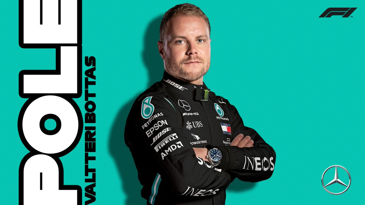 BREAKING: @ValtteriBottas takes pole at Silverstone for Sunday's 70th Anniversary Grand Prix!  @LewisHamilton joins him on the front row in P2  @HulkHulkenberg takes P3!  #F170 🇬🇧 #F1 https://t.co/hxX1KmmOtI