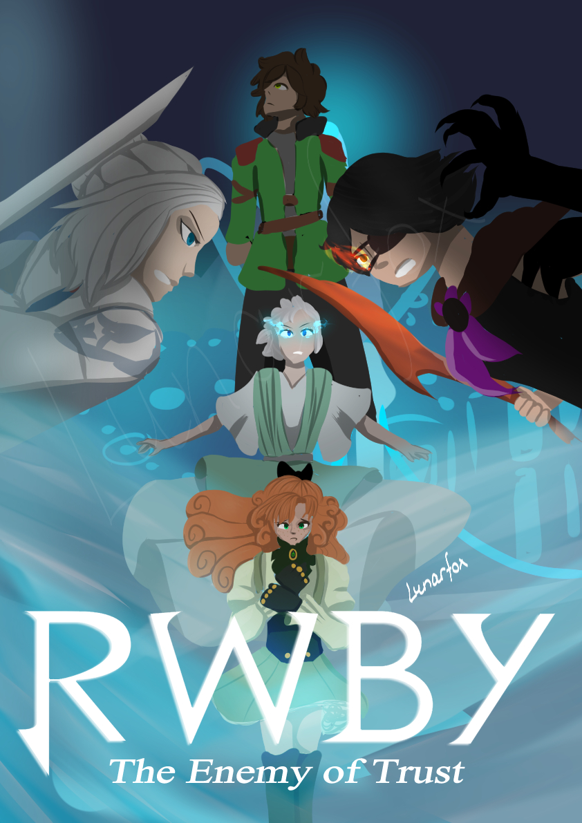 RWBY vol 7 poster, fanmade, for the final episode of volume 7 The Enemy of Trust.  i am aware oscar, cinder and winter look wonky dont @ me!!!  #rwby #artistsontwitter #art #rwby7pic.twitter.com/3NxaCycUhH