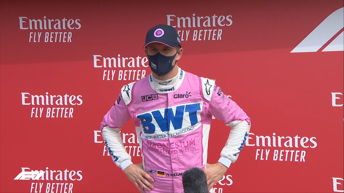 "HULKENBERG: ""The last seven/eight days has been crazy. This weekend I felt much better prepared. Q3 was just head down, full beans, and give it whatever I had. I'm a bit surprised to be standing here but there's a big smile on my face""   #F170 🇬🇧 #F1 https://t.co/cC6P5geRNf"