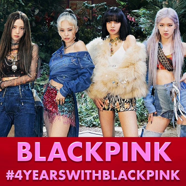 Happy 4th Anniversary to the beautiful and hugely talented Group #BLACKPINK!   #JENNIE #JISOO #LISA #ROSÉ #4YearsWithBLACKPINK #BLACKPINK4thANNIVERSARY @BLACKPINK  https://www.facebook.com/worldmusicawards/photos/a.310614765686310/3215467375201020/…pic.twitter.com/CZIIWQJzDa