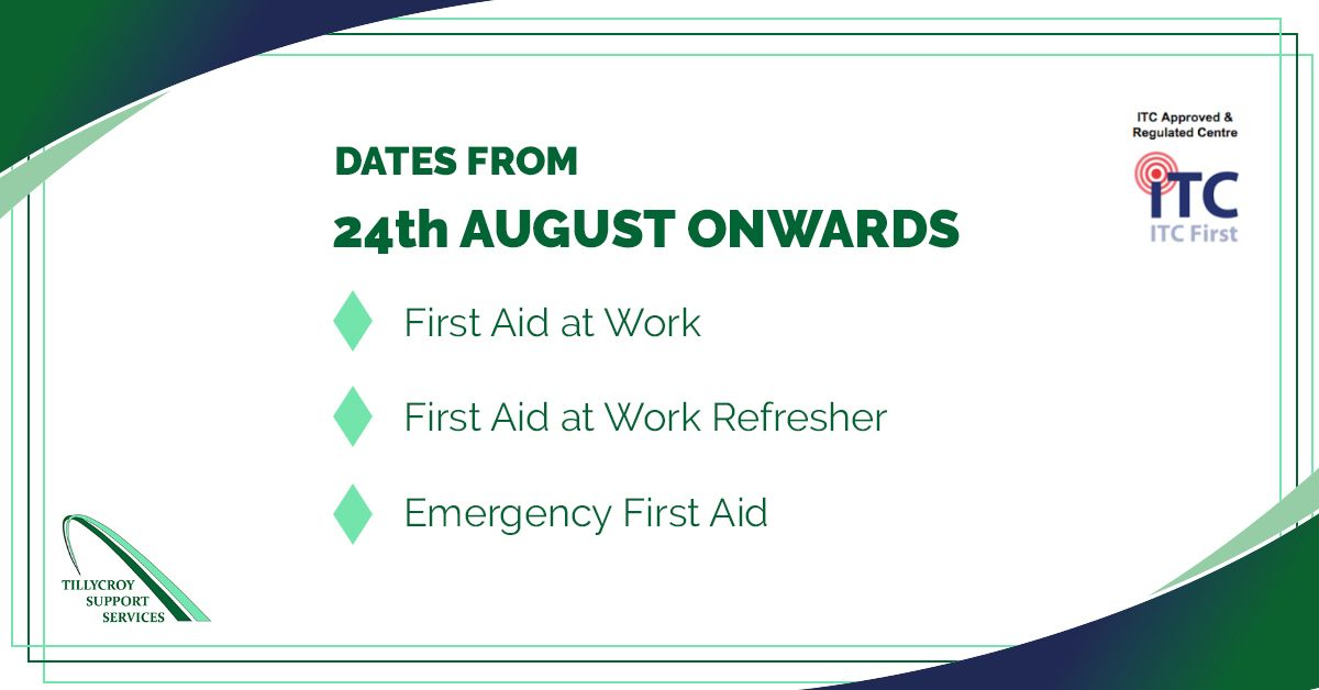 Very excited about recommencing our #ITC accredited #firstaidtraining in a couple of weeks. Dates for these courses  are currently scheduled and are available on our website https://buff.ly/2Xd57kb.  #itcfirst #firstaidpic.twitter.com/VYNm1nQh1H