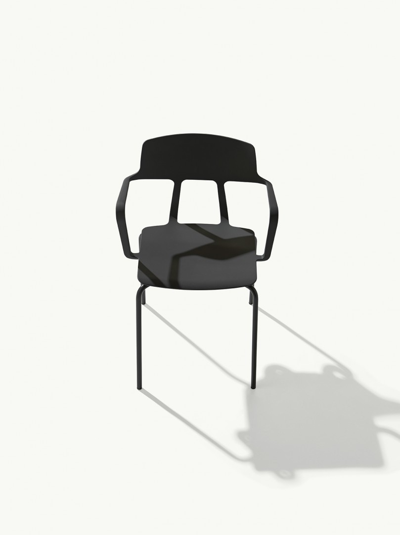 The atypical shell consists of a plastic seat and a backrest, which are connected by two unique oval arms. The result is a movement that makes the seat structurally and aesthetically flexible and light.  https://t.co/M1a9Y88PbY