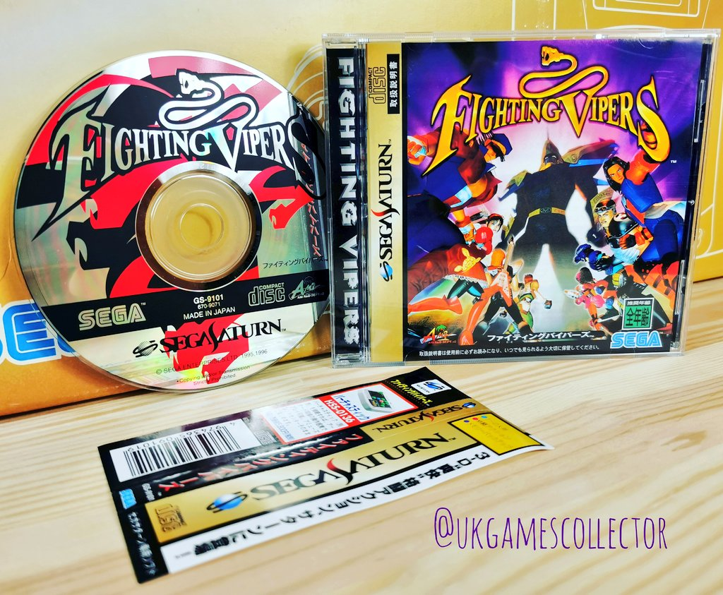 For Sega Saturday I thought I'd share a pic of one of my favourite fighting games which is Fighting Vipers for the Sega Saturn. I think the disk and cover art looks awesome #sega #segasaturday #segasaturnday #retrogames #RETROGAMING #retrogamers #GamersUnite #segasaturnpic.twitter.com/dhd0xnMFrP