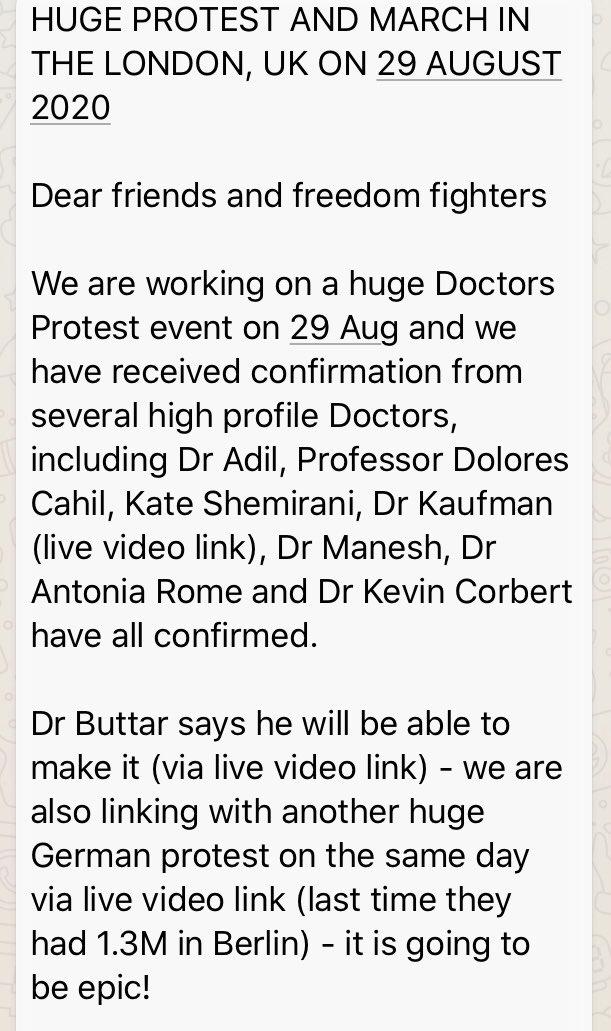 Dear All  URGENT ANNOUNCEMENT!  Save the date! 29th August London!! More details soon. @LeahButlerSmith @befree200 @simondolan @StandUpX2 @drsimonegold @saveourrightsuk @WeWillBeFree82 @MinistryDissent @TheMindsculpter @BreesAnna @ChristineBrett8 @davidkurten @ClarkeMicah https://t.co/AkBrIIzz6f