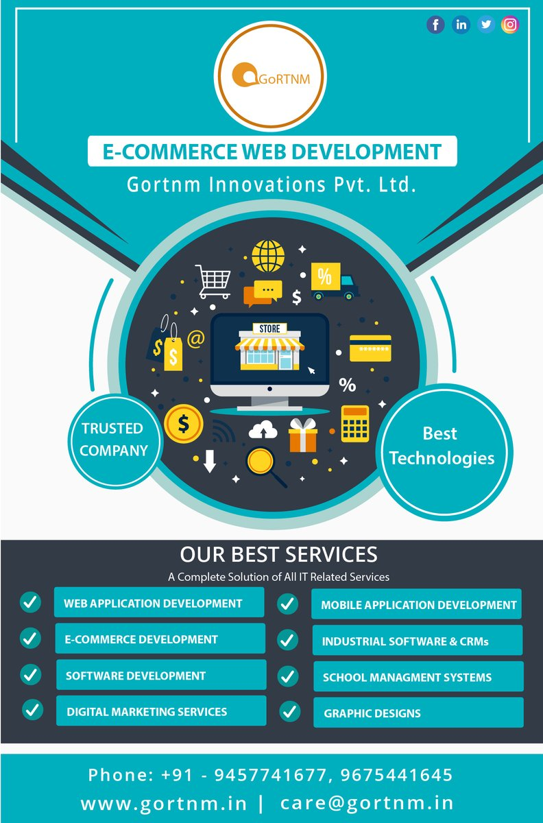 E-commerce Web Development Company in Noida. We provides Complete Affordable & Best IT #Services with the latest #technologies. Call - +91 - 9457741677, 9675441645 Gortnm Innovations Pvt. Ltd. Visit - https://www.gortnm.in/ecommerce-development-company-meerut.html… Mail - corp.gortnm@gmail.com   #tech #it #startup #seopic.twitter.com/VzanP3evuF