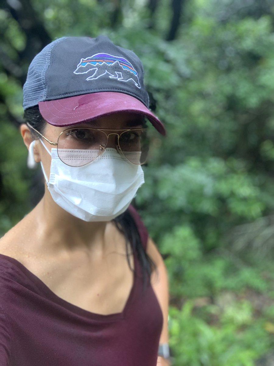 Through sweat and rain and peak humidity, the mask stays on. 😷 (With a backup in the hip pack.) Fellow hikers & runners here in #HongKong who mask, thank you. 🙏🏽 🇭🇰🌳🥾😷🙏🏽 #hongkong #hike #covid19 #worldmaskweek
