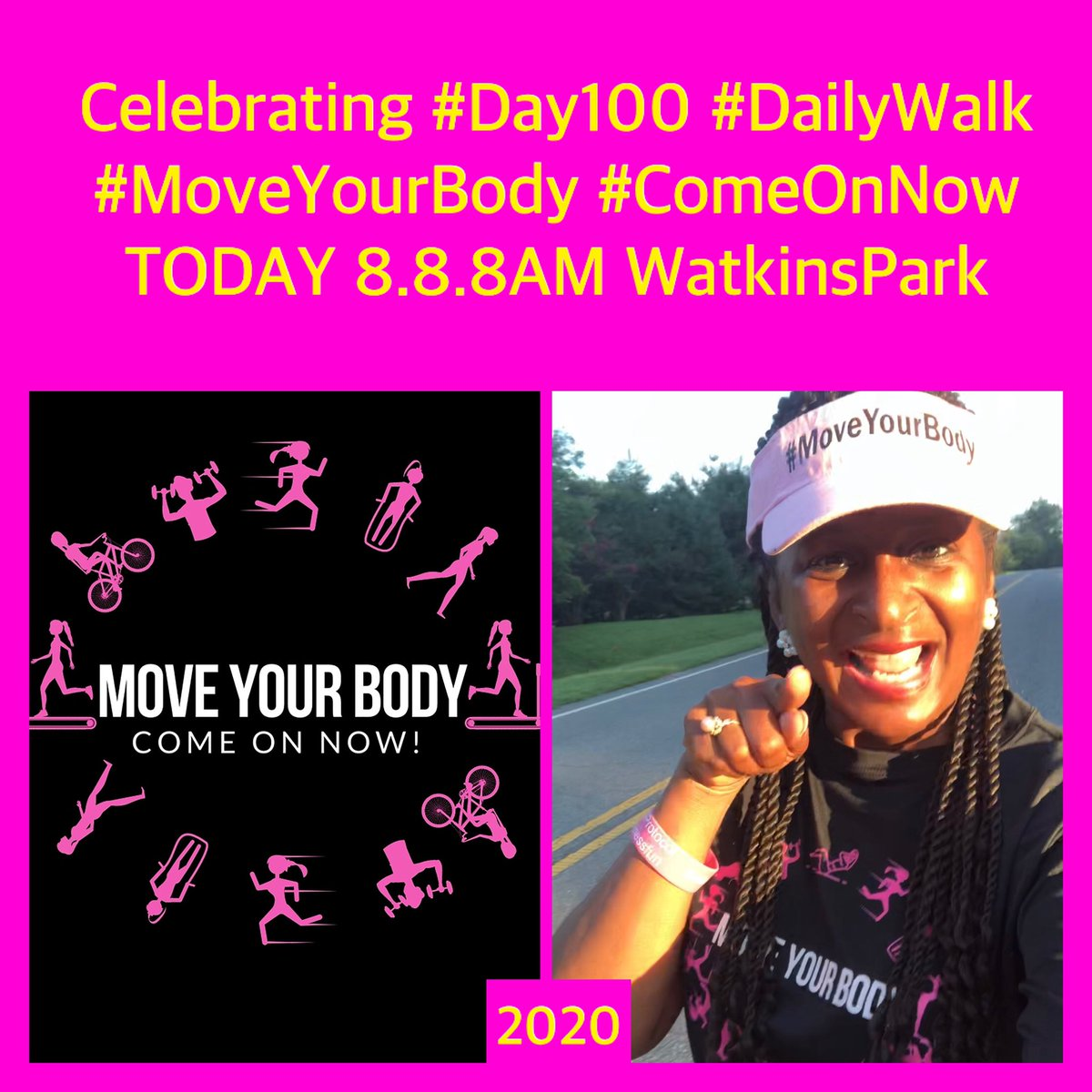Good Morning 🗣 #GetUp #MoveYourBody #ComeOnNow #SaturdayMorning #SaturdayMotivation   Let's have #FitnessFun @pgparks #WatkinsPark 8AM  see you soon! 🥰 https://t.co/Jww7kvurt0