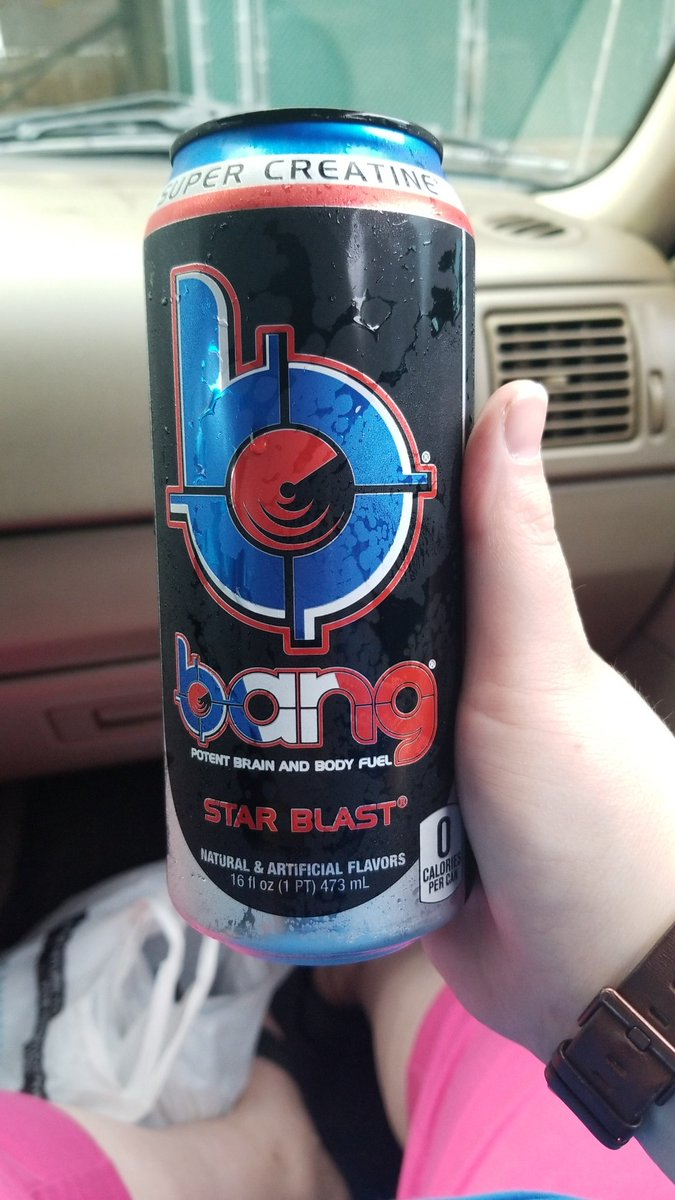 First time drinking a can to myself (usually share with coworkers). Lets hope I don't see colors 😆 #bang #bangenergy #starblast #energydrink #SaturdayMorning #SaturdayMotivation https://t.co/4lrruE7sW4