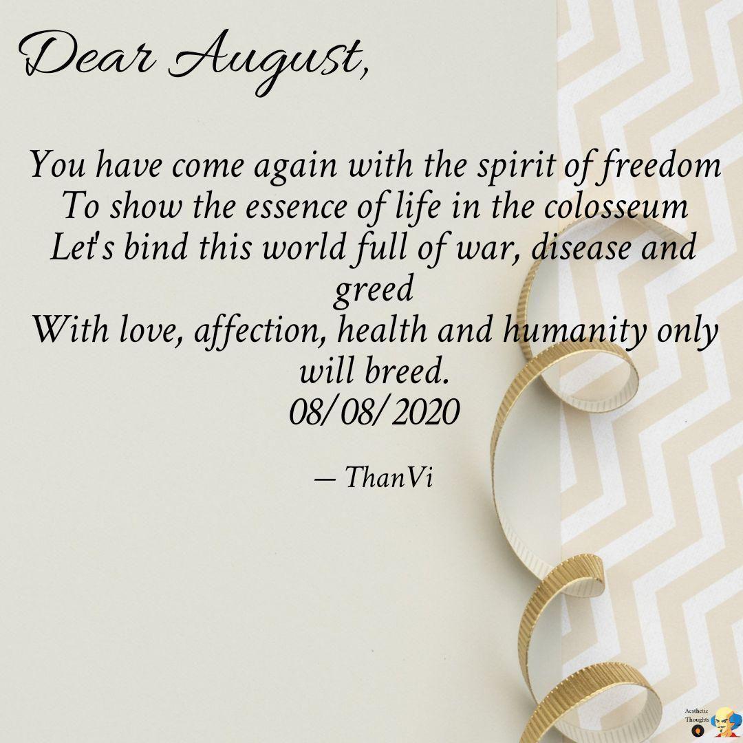 A prayer to dear August ... https://t.co/gqMQnMD25b