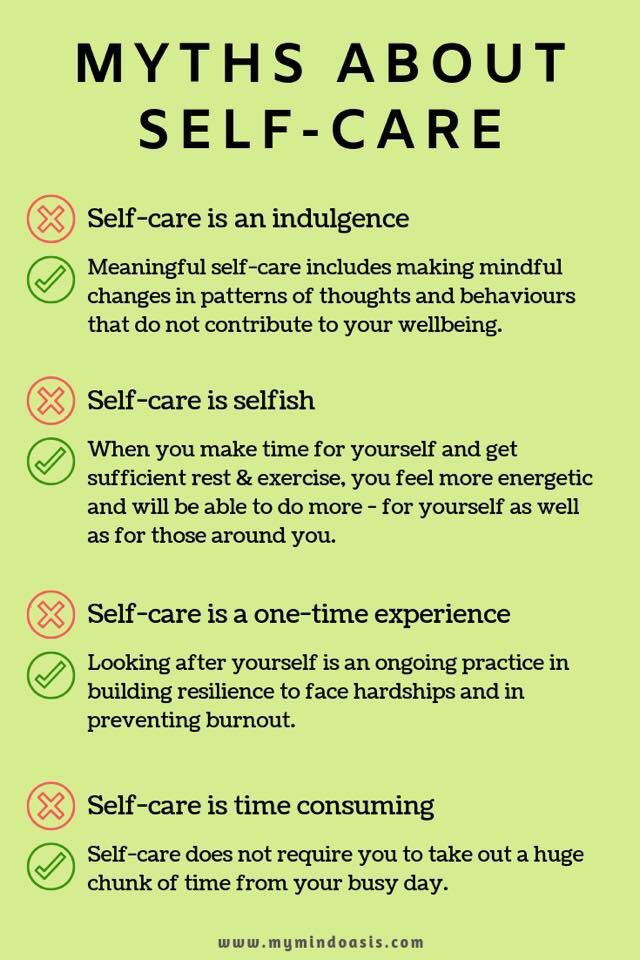 Myths About Self-Care #selfcare