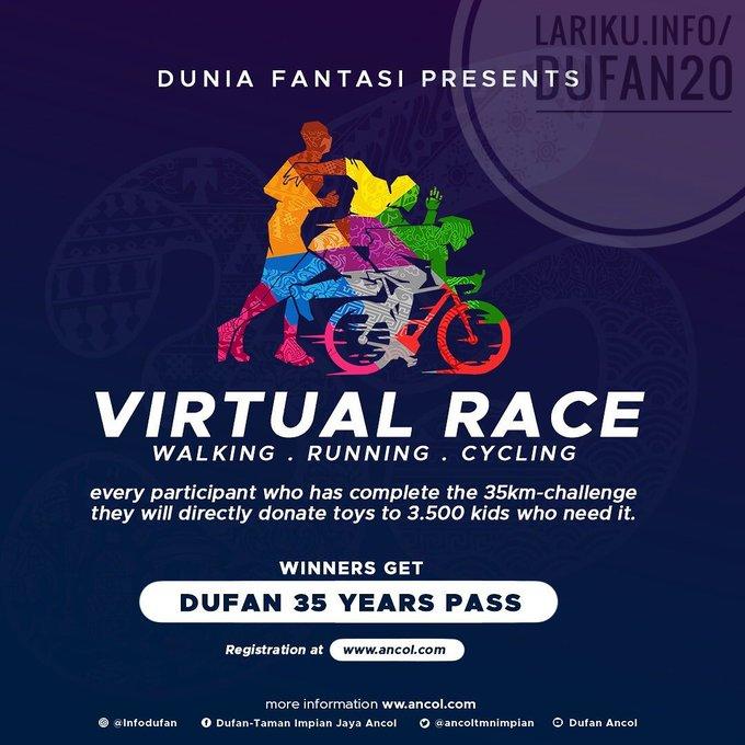 Dufan Virtual Race ∙ Walking Running Cycling • 2020
