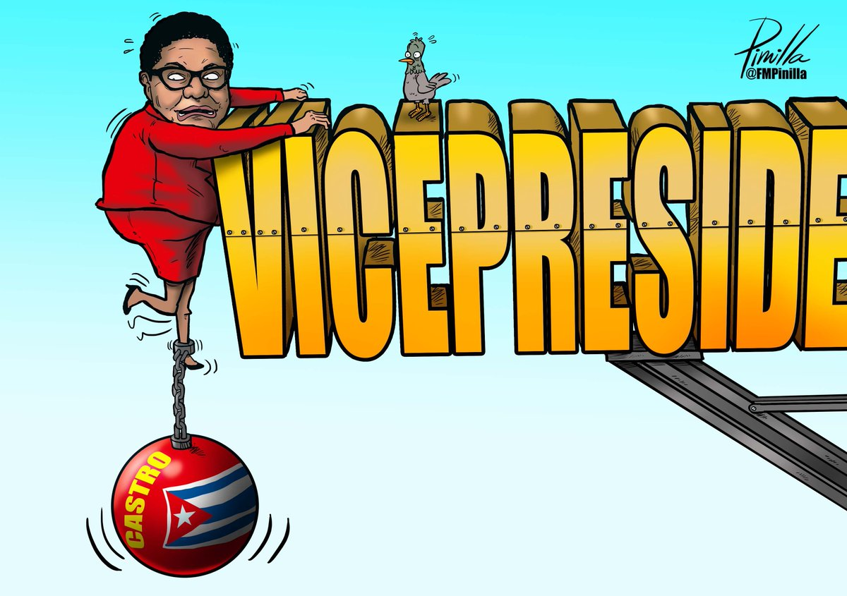 #Caricatura | ¿Karen Bass VP? | Por: Fernando Pinilla @FMPinilla https://t.co/HaVIQIyLuY https://t.co/DWFy7ADUjH