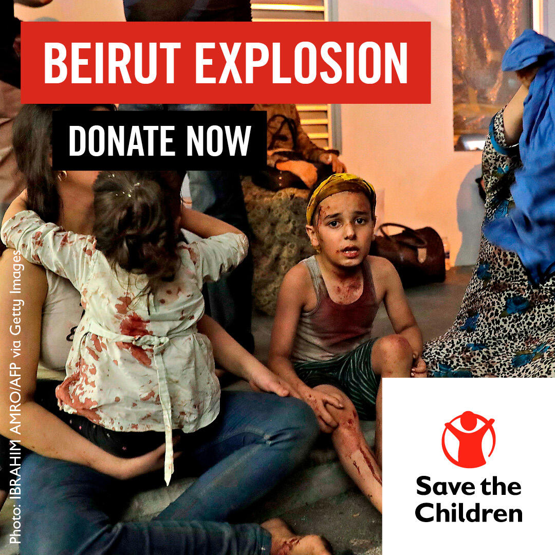 Children and families facing the aftermath of the #Beirut explosion need our help to get back on their feet.  Lebanon is already going through a severe economic crisis & a sharp spike in #COVID19 means hospitals are overwhelmed.  Support our appeal: https://t.co/IMZr9kFLhr https://t.co/jsoYMnBOo7