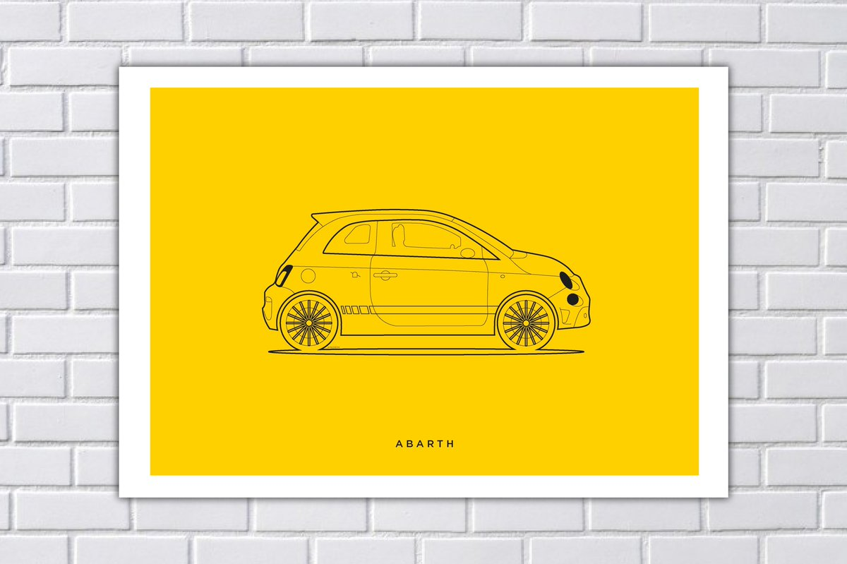 The bright yellow one!   Link in bio  #abarth #digitalprint #EtsySeller #carspic.twitter.com/CfE2l7FVa3